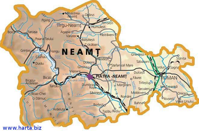 Harta judetului Neamt